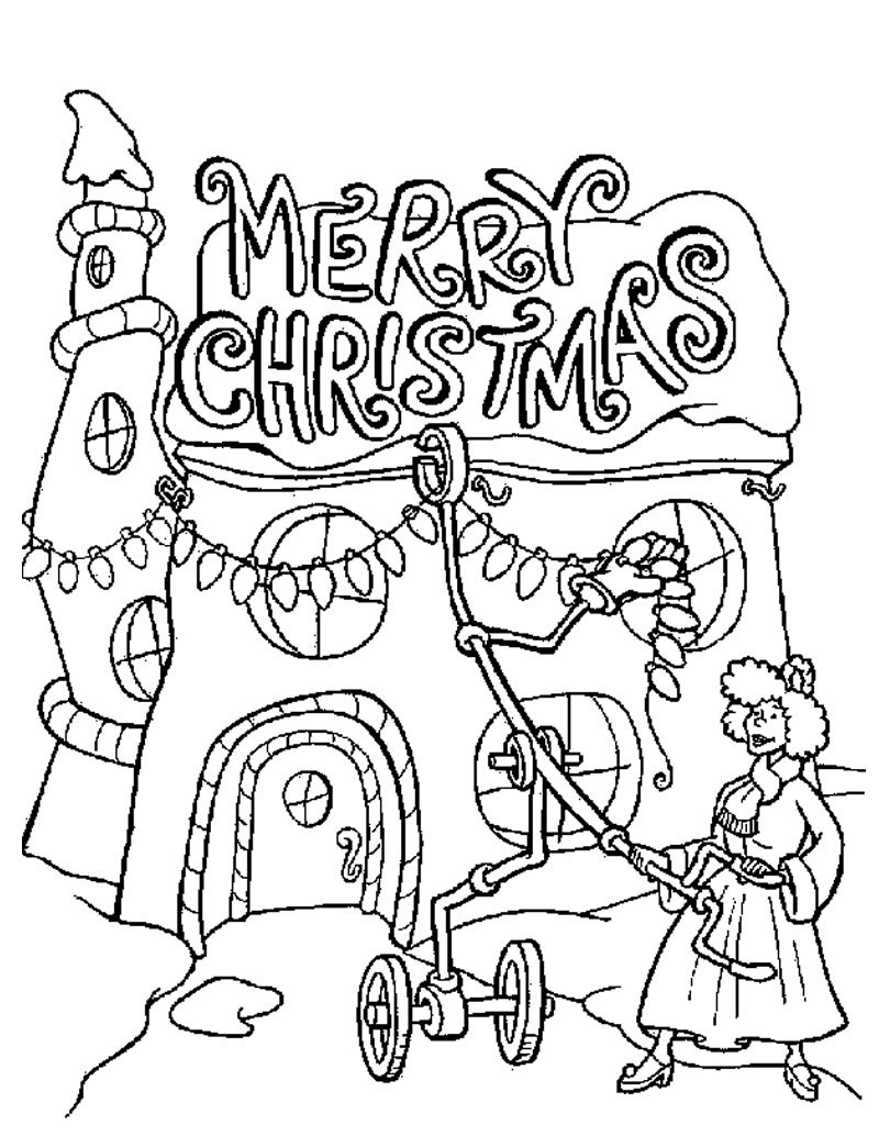 Christmas Lights Coloring Page. Phenomenal Christmas Tree Lights - Free Printable Christmas Lights Coloring Pages