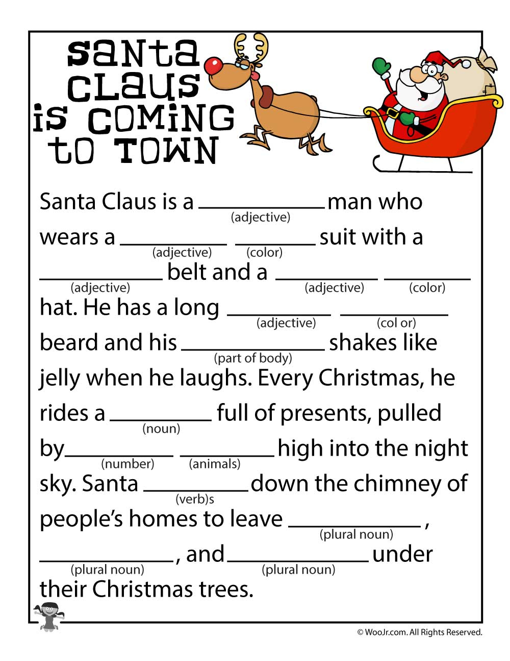 Christmas Mad Libs | Woo! Jr. Kids Activities - Christmas Mad Libs Printable Free