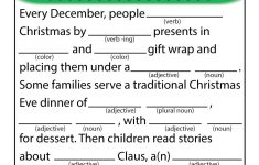 Christmas Mad Libs Printable Free
