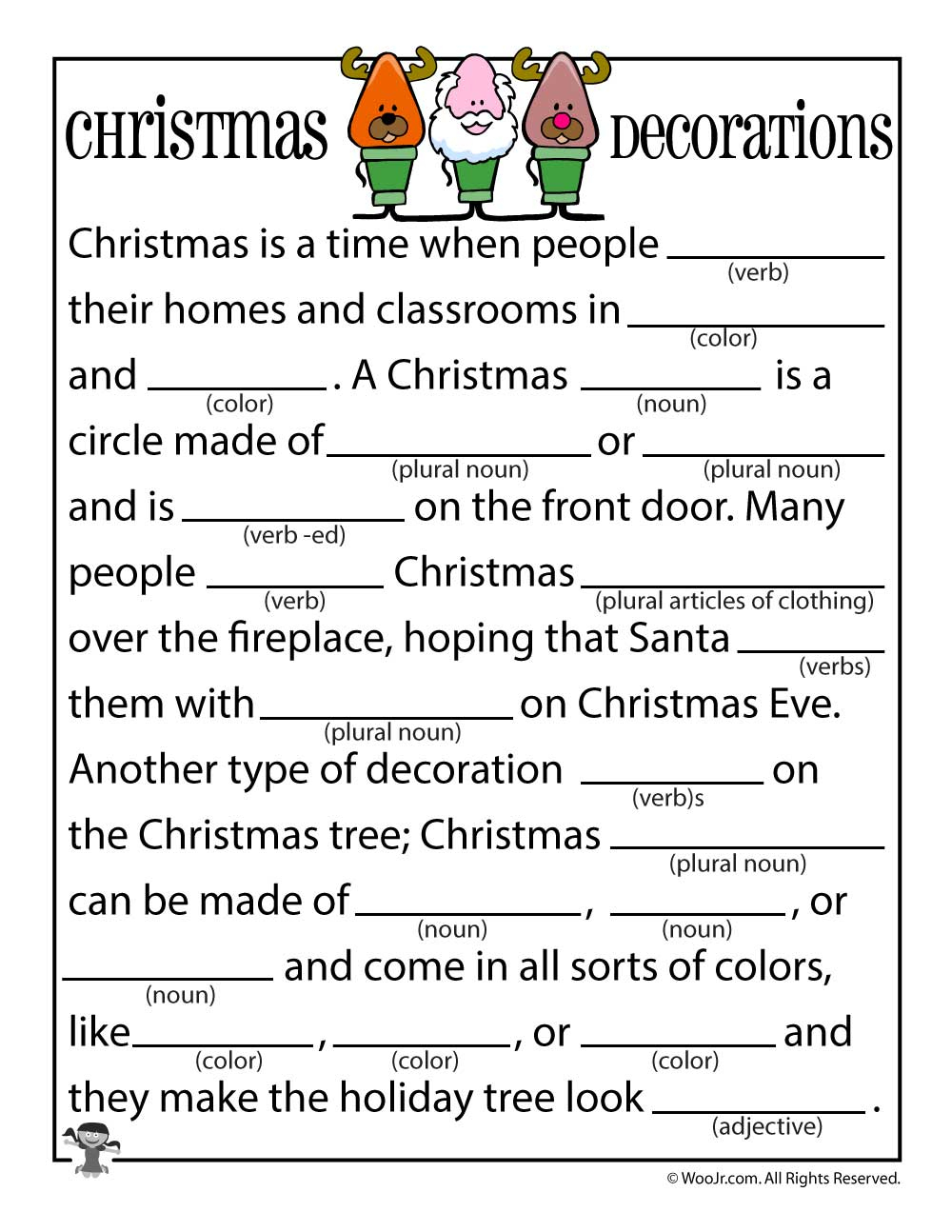 Christmas Mad Libs | Woo! Jr. Kids Activities - Free Printable Mad Libs For Tweens