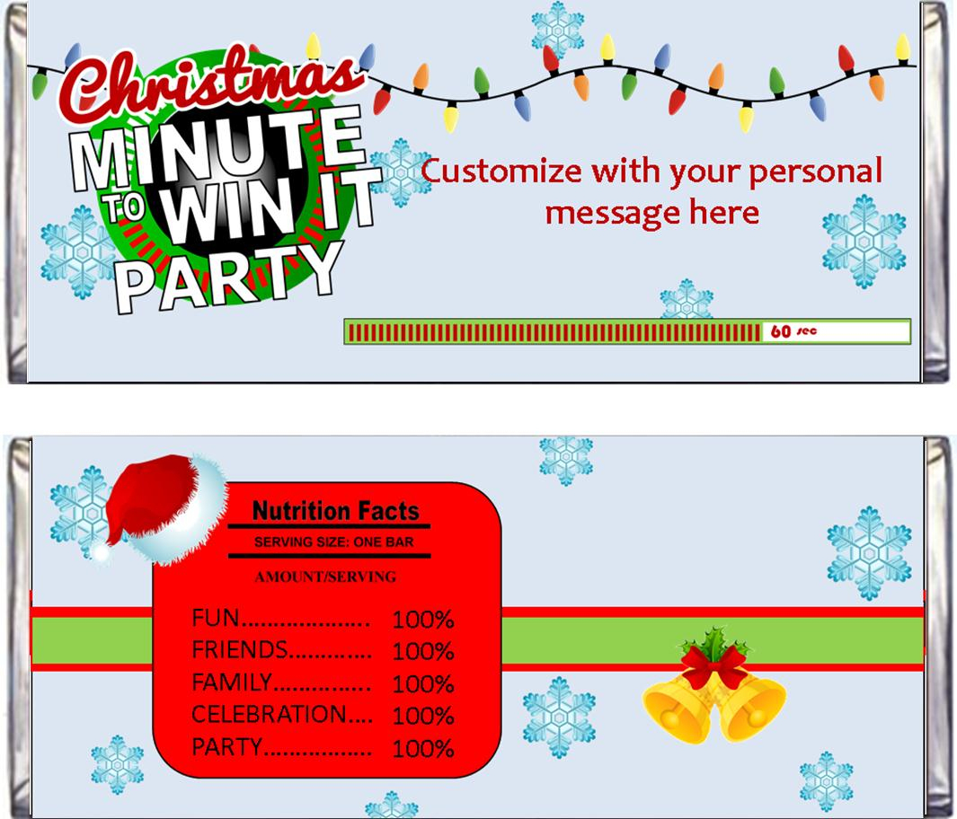 Christmas Minute To Win It Party Supplies And Ideas - Free Printable Minute To Win It Invitations