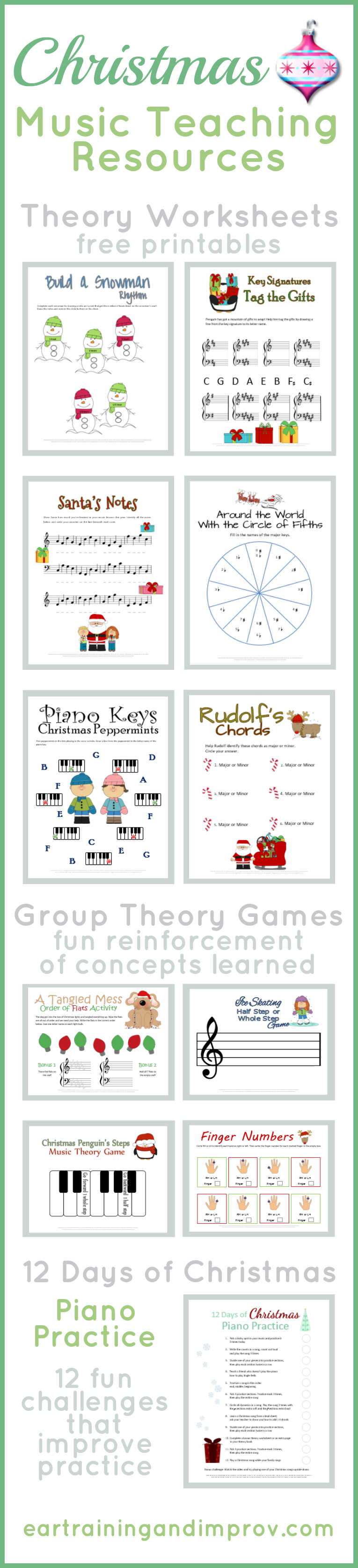Christmas Music Theory Worksheets - 20+ Free Printables - Free Printable Group Games