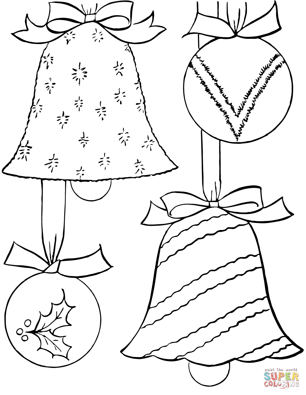 Christmas Ornaments Coloring Page | Free Printable Coloring Pages - Free Printable Christmas Ornament Coloring Pages