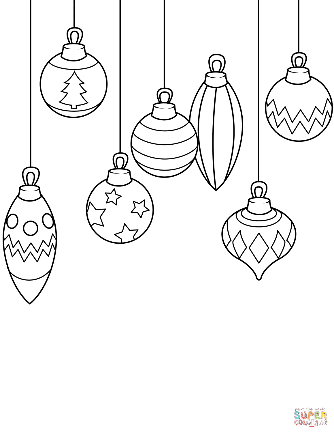 Christmas Ornaments Coloring Page | Free Printable Coloring Pages - Free Printable Ornaments To Color
