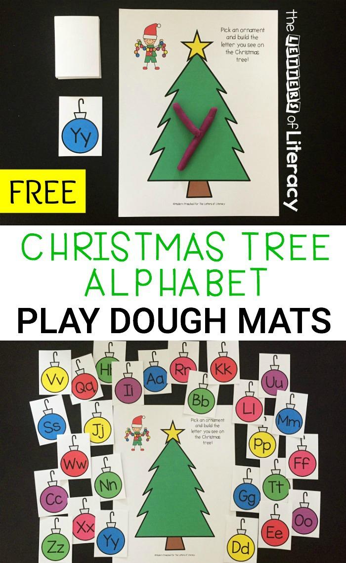 Christmas Play Dough Mats: Free Christmas Alphabet Printables - Free Printable Christmas Alphabet