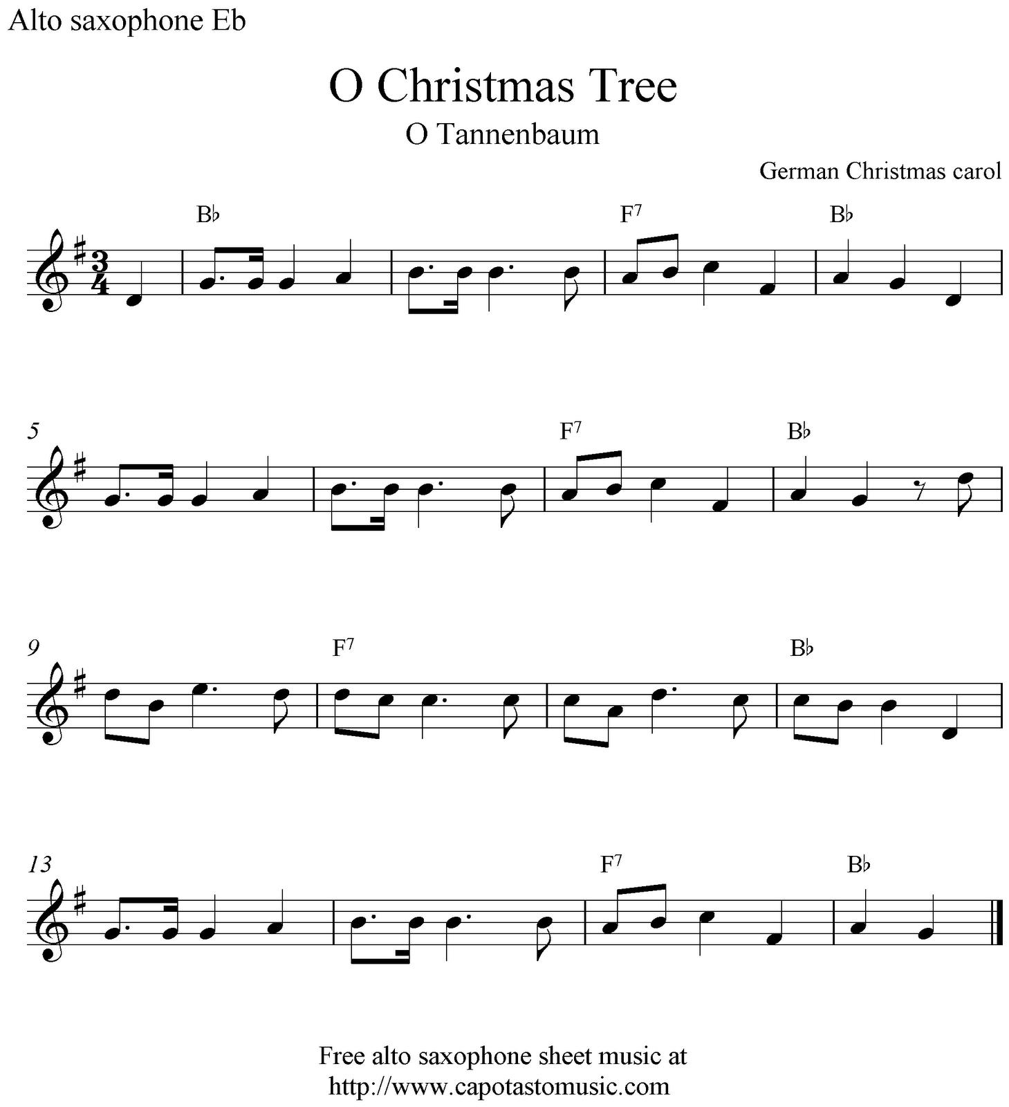 Christmas Songs Alto Sax | Free Christmas Sheet Music Saxophone Alto - Free Printable Christmas Sheet Music For Alto Saxophone