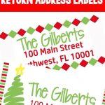 Christmas Themed Return Address Labels | The Ultimate Pinterest – Free Printable Return Address Labels