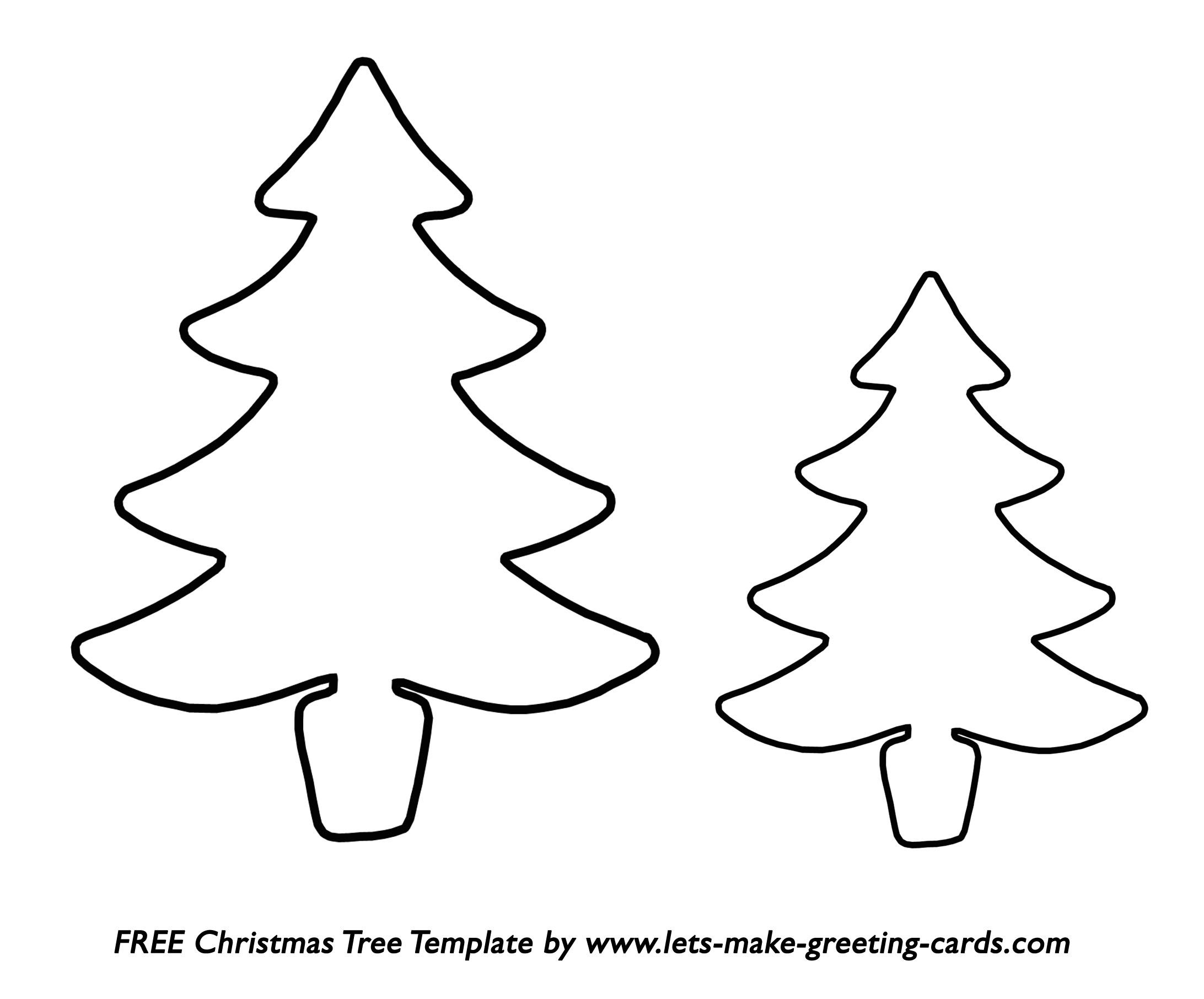 Christmas Tree Templates In All Shapes And Sizes - Free Printable Christmas Tree Template