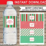 Christmas Water Bottle Labels Free Printable | Printable Christmas   Christmas Water Bottle Labels Free Printable