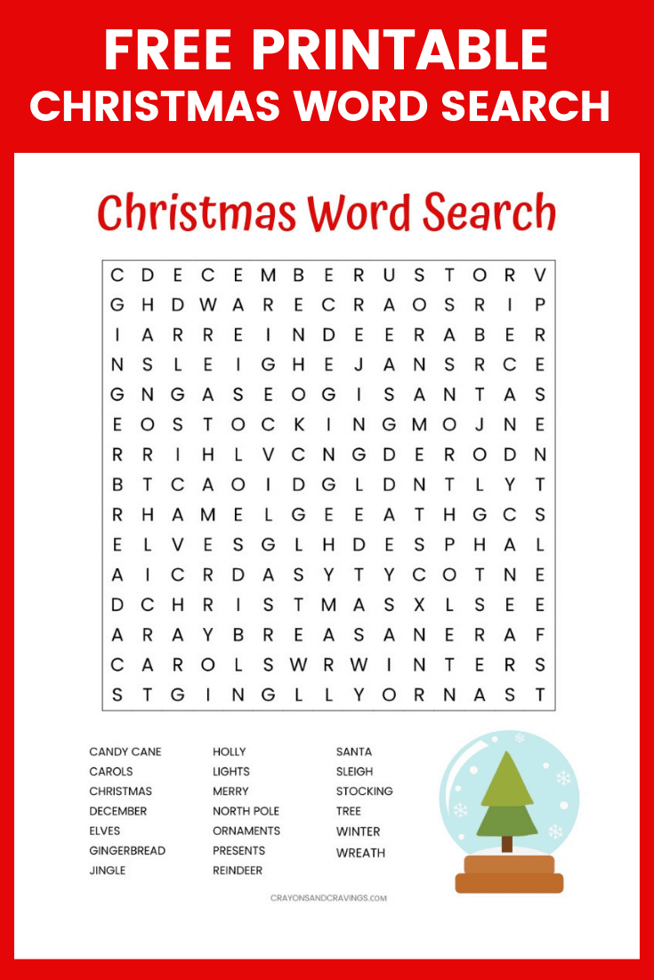 Christmas Word Search Free Printable For Kids Or Adults - Free Printable Christmas Crossword Puzzles For Adults