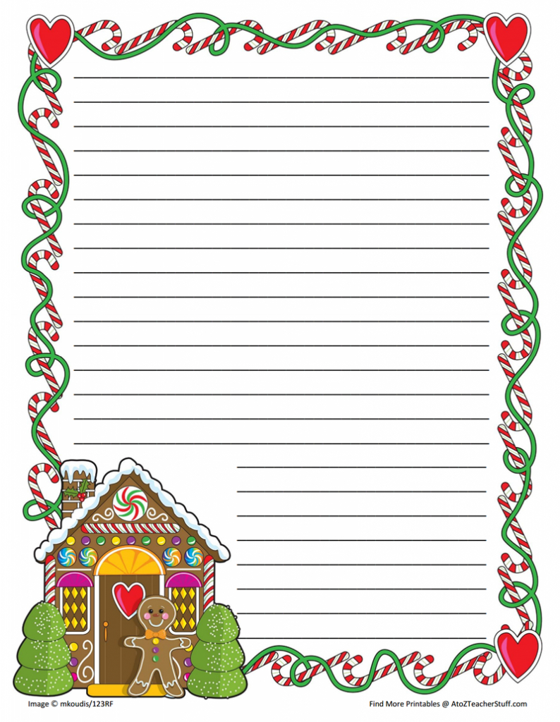 Christmas Writing Paper Printable - Printable Christmas Writing Paper - Free Printable Christmas Writing Paper With Lines