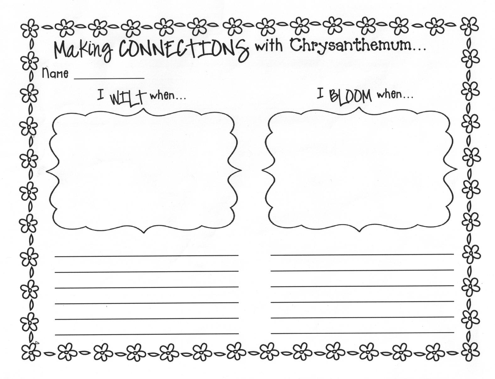 Chrysanthemum Worksheets | Free Printables Worksheet - Chrysanthemum Free Printable Activities