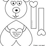 "Church House Collection Blog: ""jesus Loves Me Beary Much   Free Printable Bible Crafts"