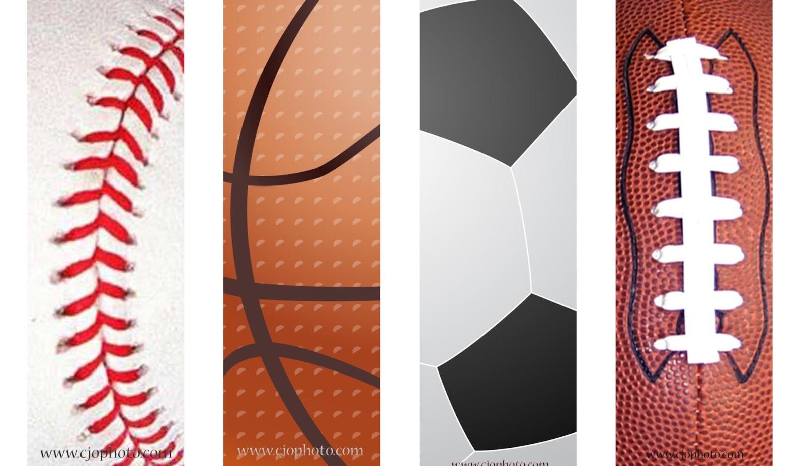 Cjo Photo: Printable Bookmarks: Sports - Free Printable Sports Bookmarks