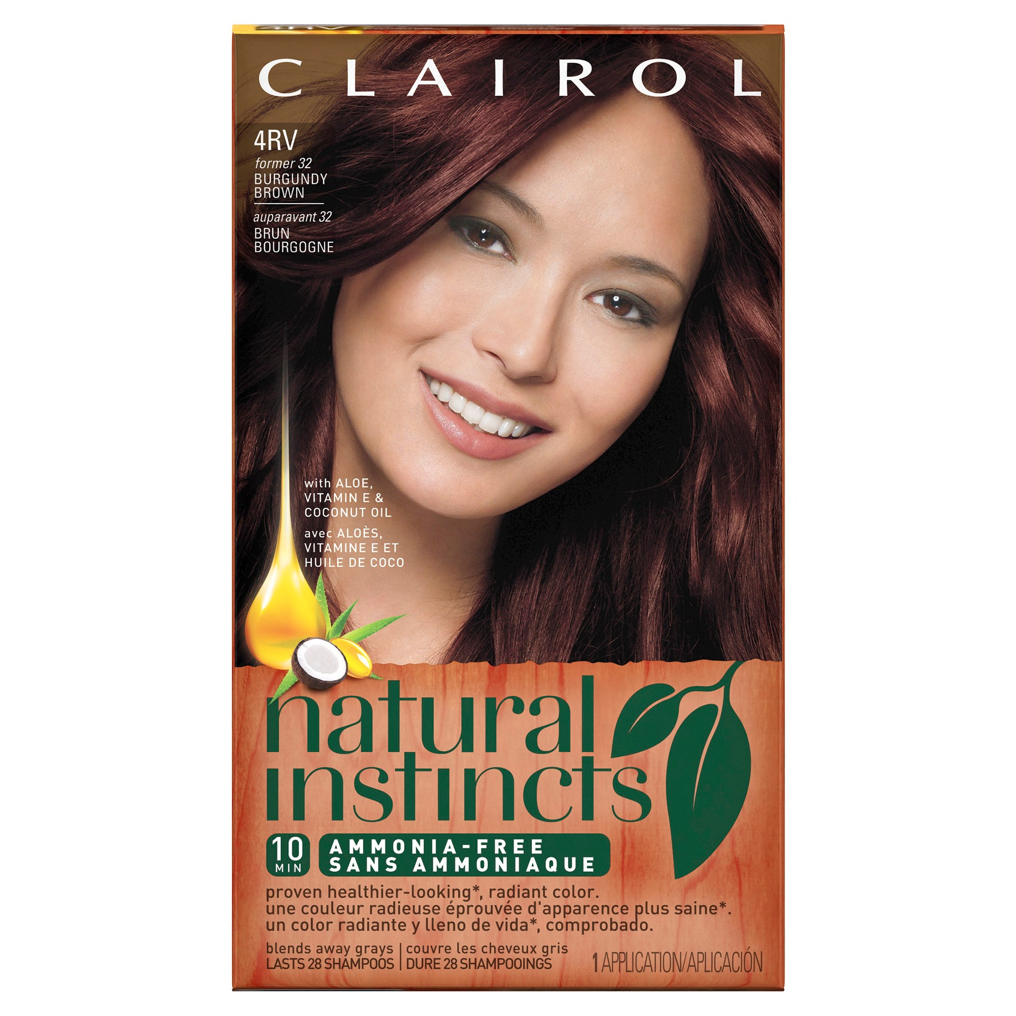 Clairol Natural Instincts Non-Permanent Hair Color - 4Rv/32 Egyptian - Free Hair Dye Coupons Printable