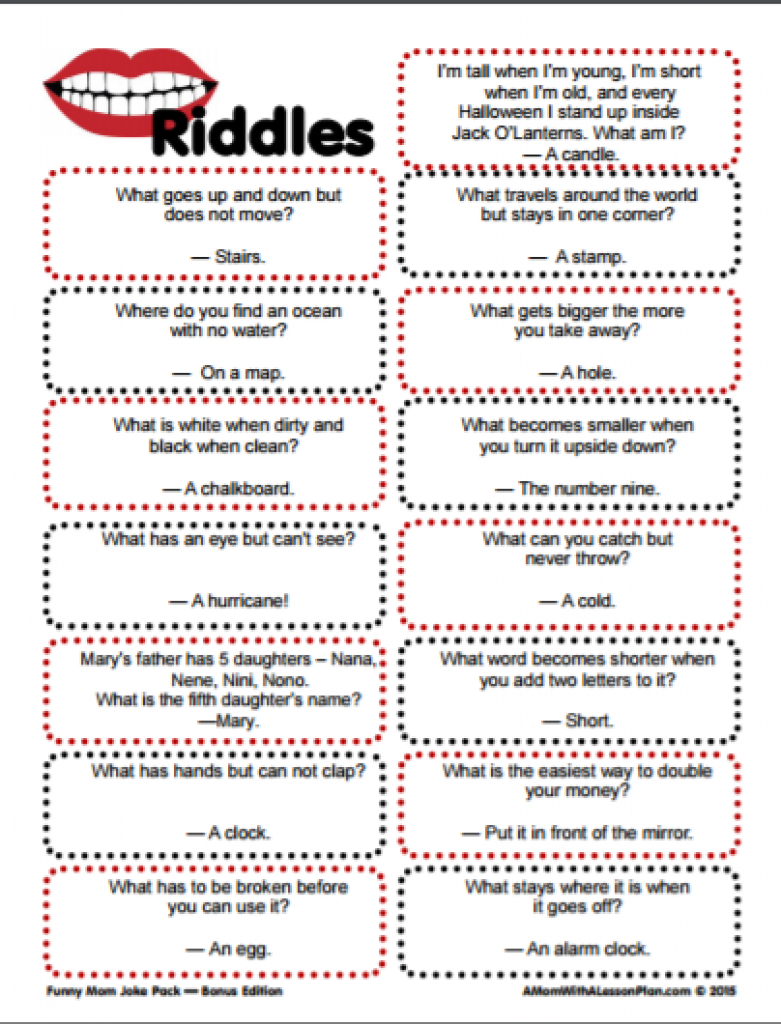Clever Riddles For Kids With Answers (Printable Riddles!) | For The - Free Printable Riddles