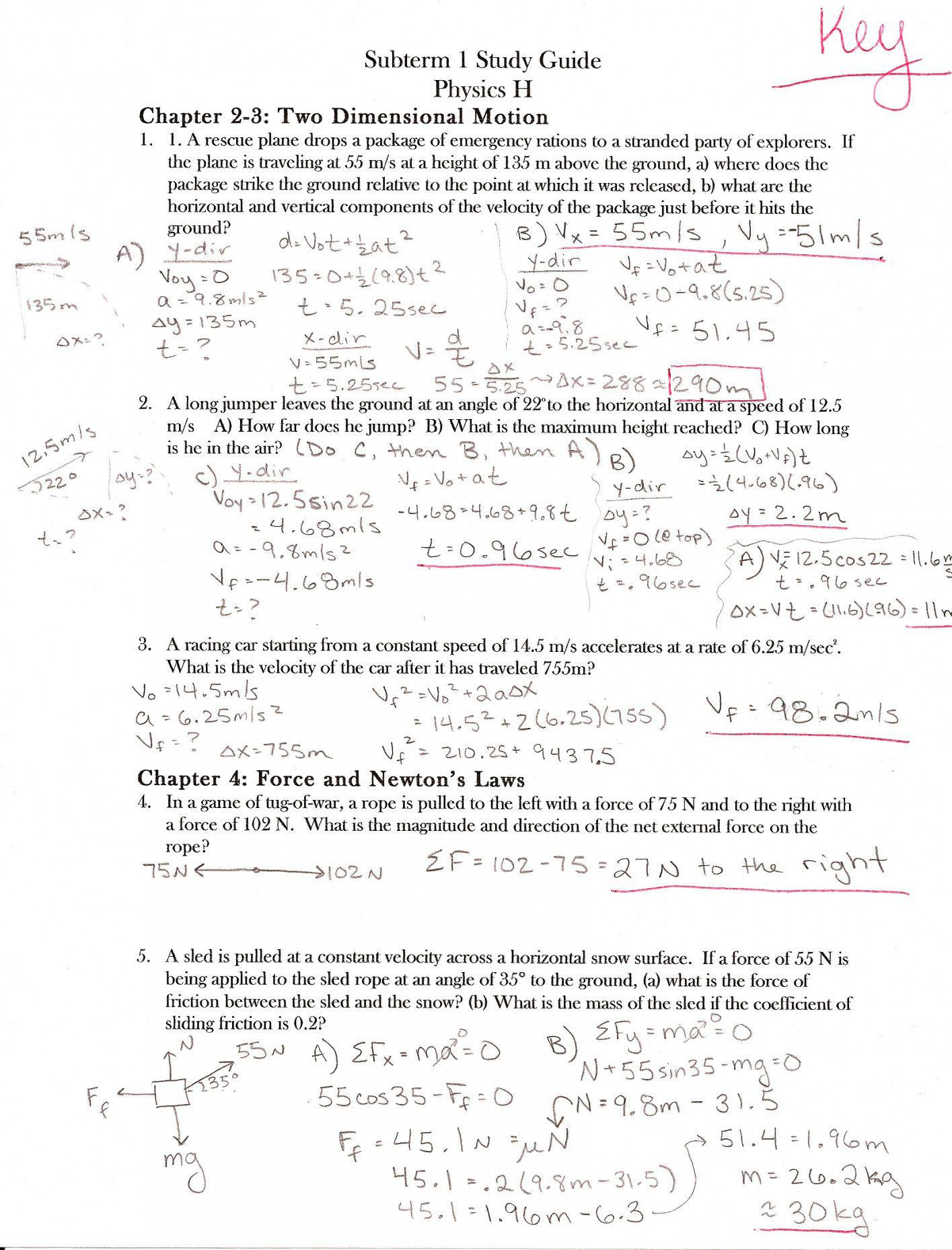 Coefficient Of Friction Worksheet Answers | Lostranquillos - Free Printable Physics Worksheets