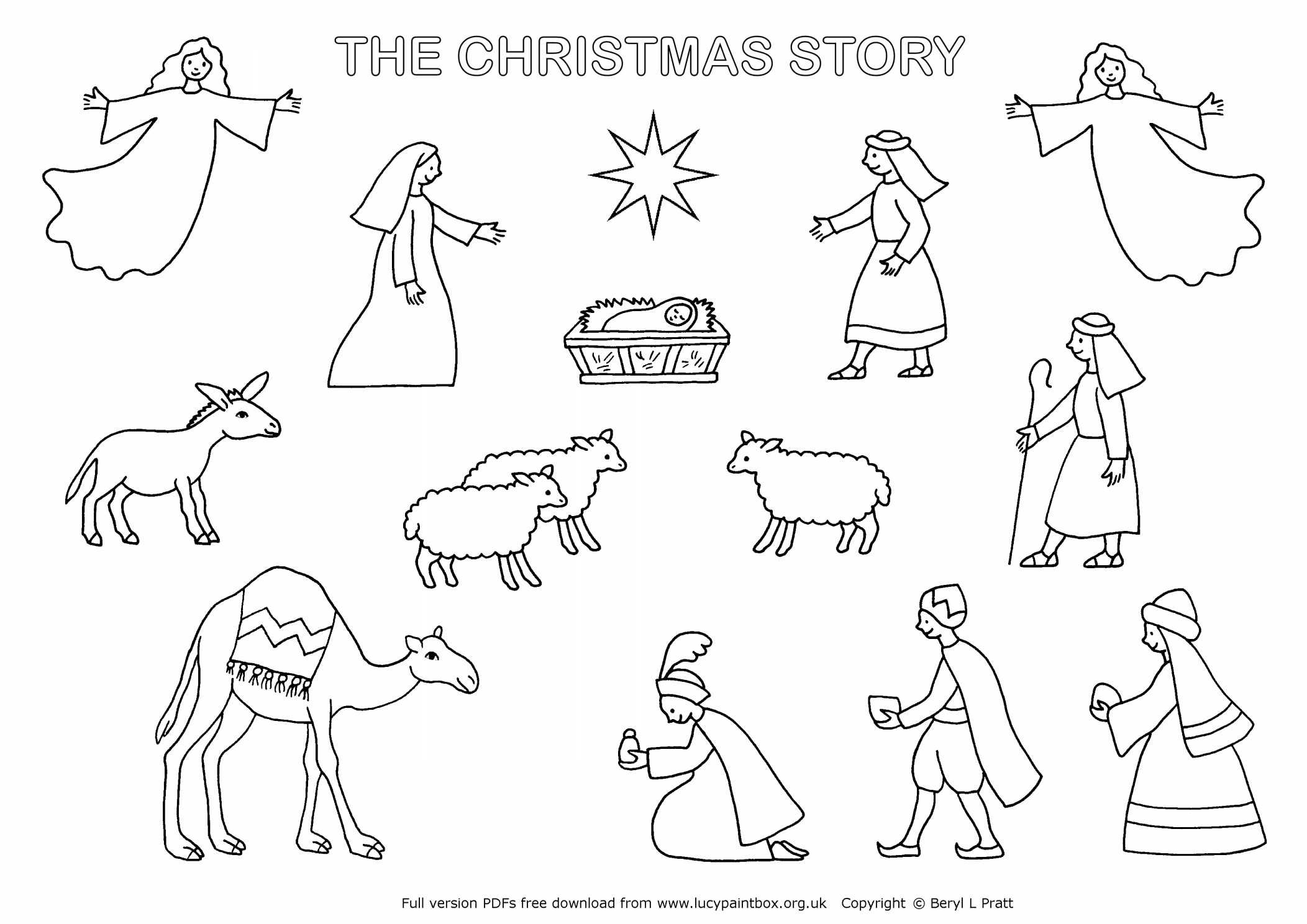 Collection Of Printable Christmas Nativity Coloring Pages | Download - Free Printable Nativity Story Coloring Pages