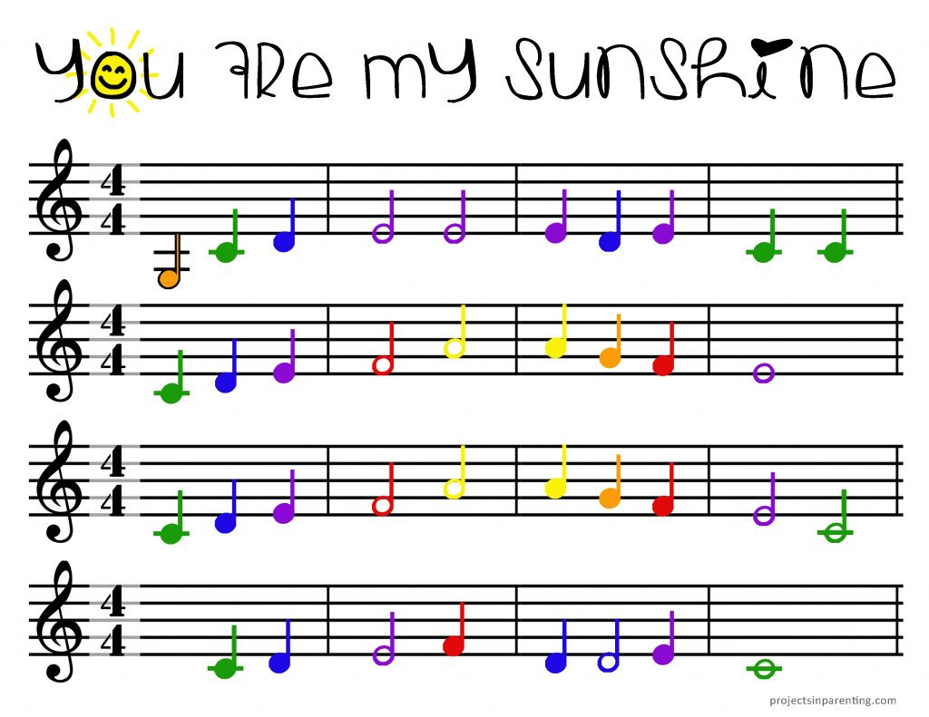 Color-Coded Beginner Piano Sheet Music | Projects In Parenting With - Free Printable Piano Pieces