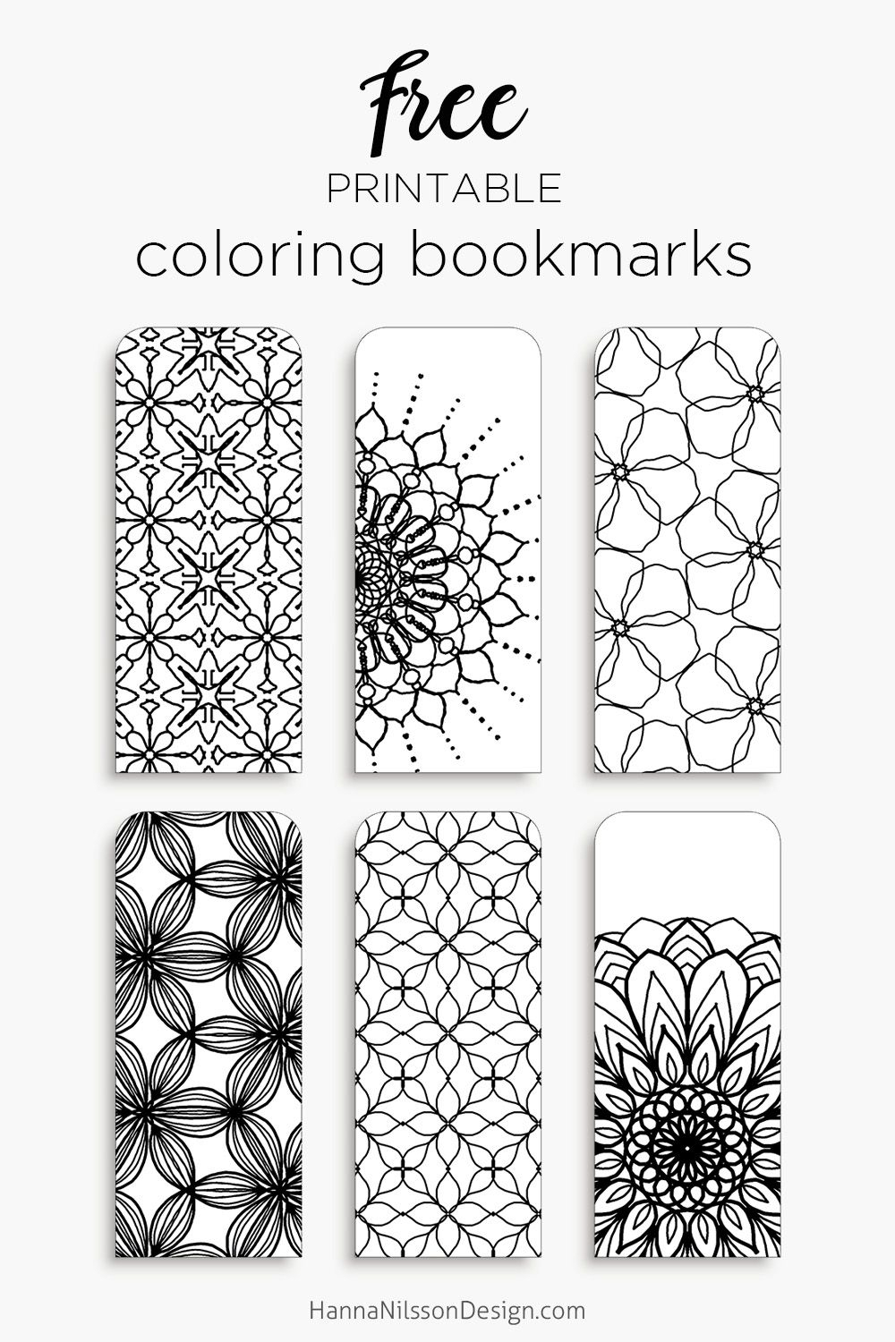 Coloring Bookmarks – Print, Color And Read | Hanna Nilsson Design - Free Printable Bookmarks To Color
