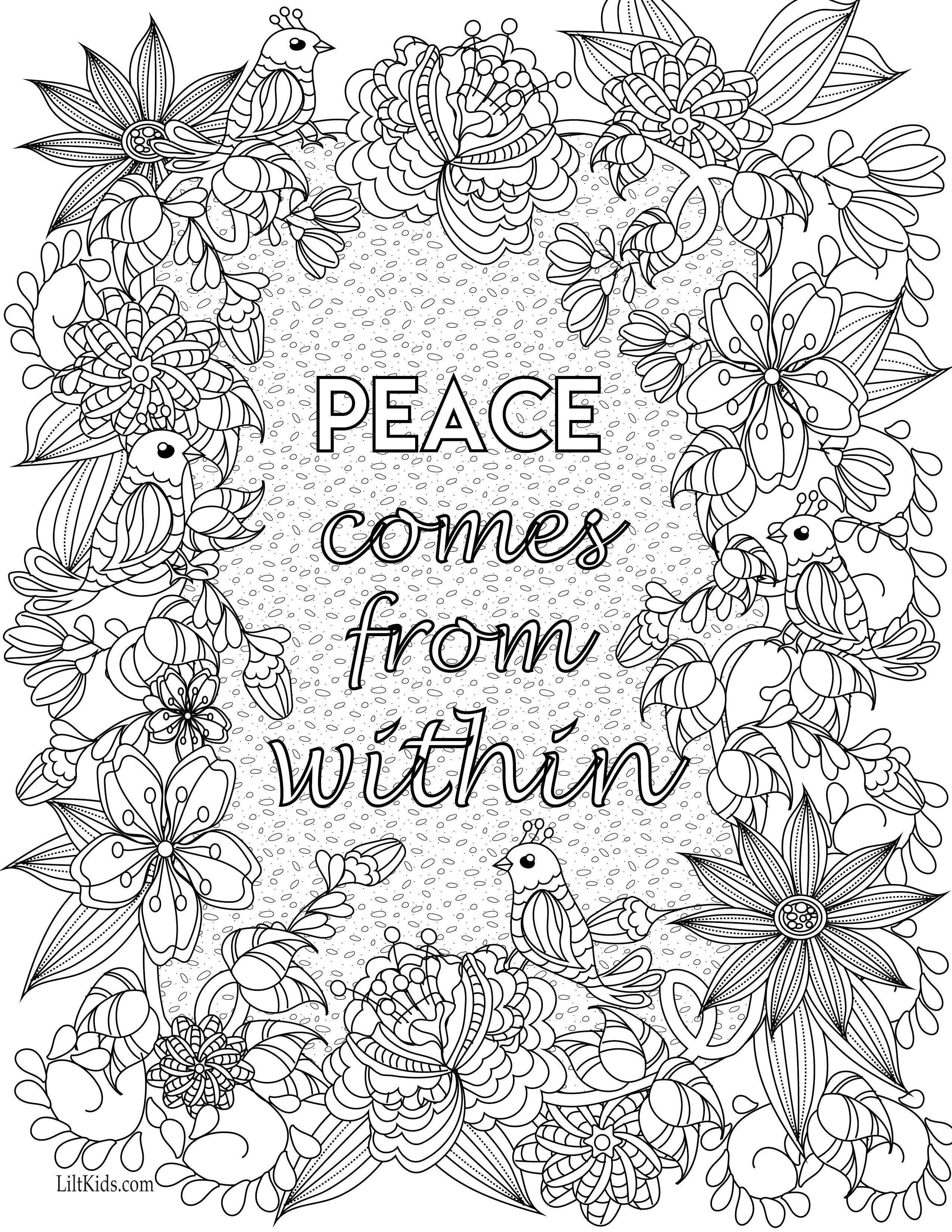 Coloring Pages : 41 Astonishing Free Printable Quotes Coloring Pages - Free Printable Inspirational Coloring Pages