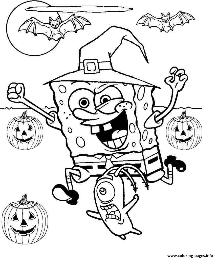 Coloring Pages : Coloring Pages Freee Halloween Spongebob Pre K Free - Free Printable Halloween Coloring Pages