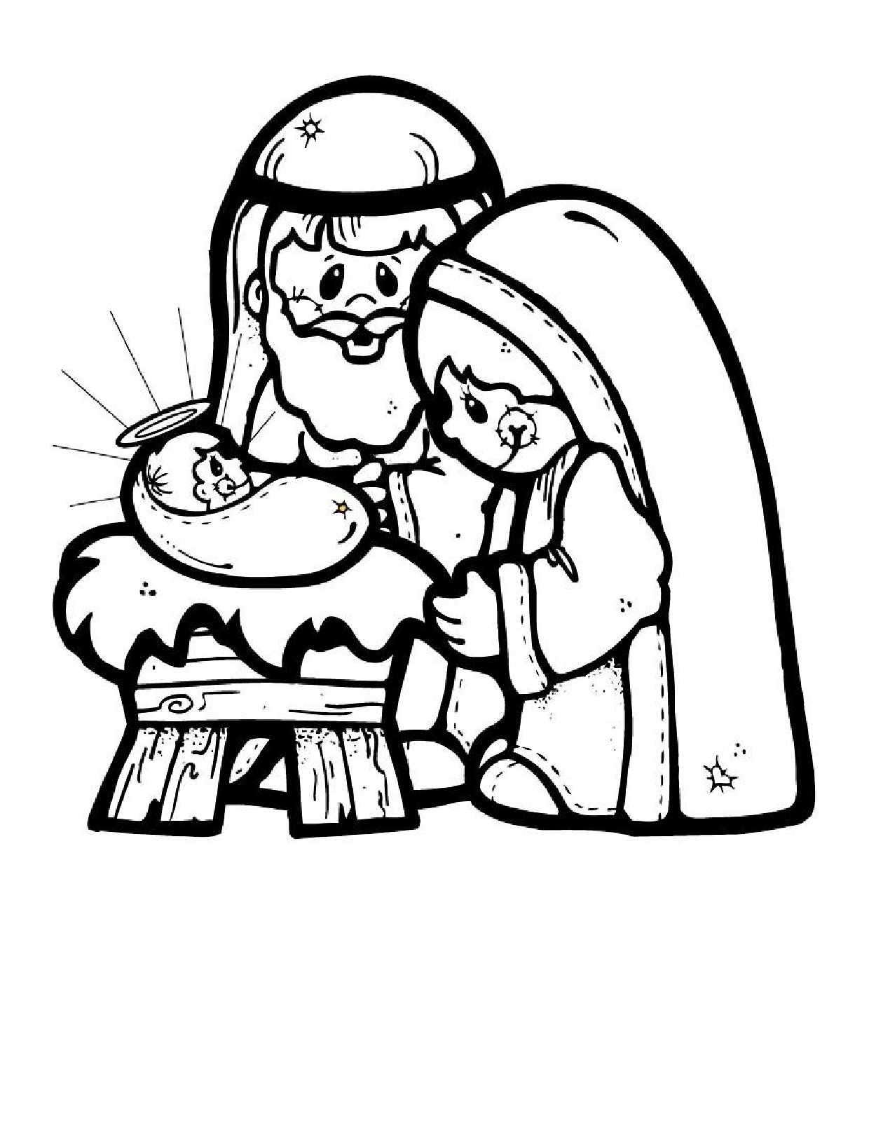 Coloring Pages : Coloring Pages Nativity Scene Page Christmas - Free Printable Christmas Baby Jesus Coloring Pages