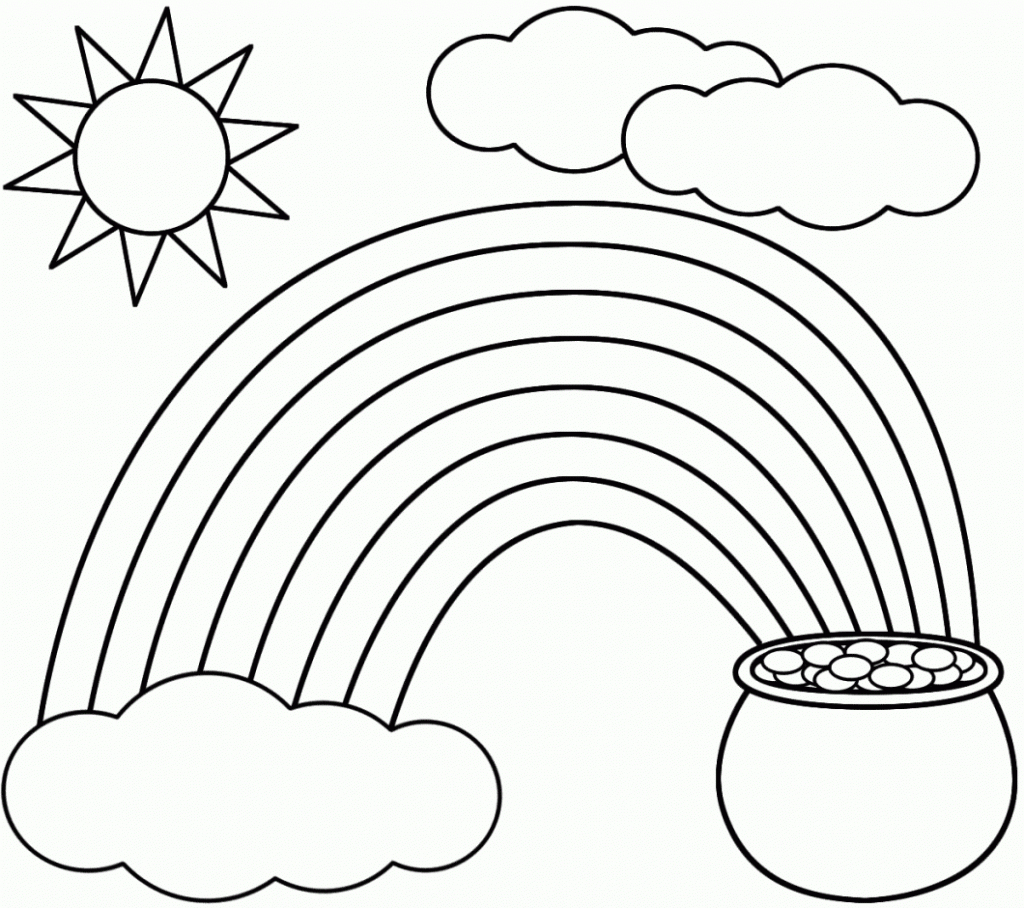 Coloring Pages ~ Coloring Pages Pot Of Gold Page Printable With Free - Free Printable Pot Of Gold Coloring Pages