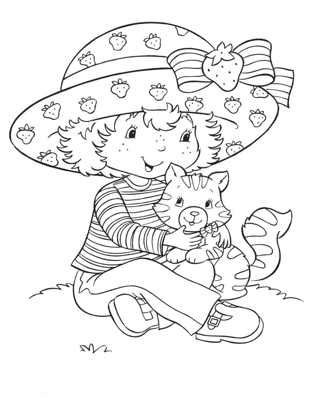 Coloring Pages ~ Coloring Pageserry Shortcake For Kids Learning - Strawberry Shortcake Coloring Pages Free Printable