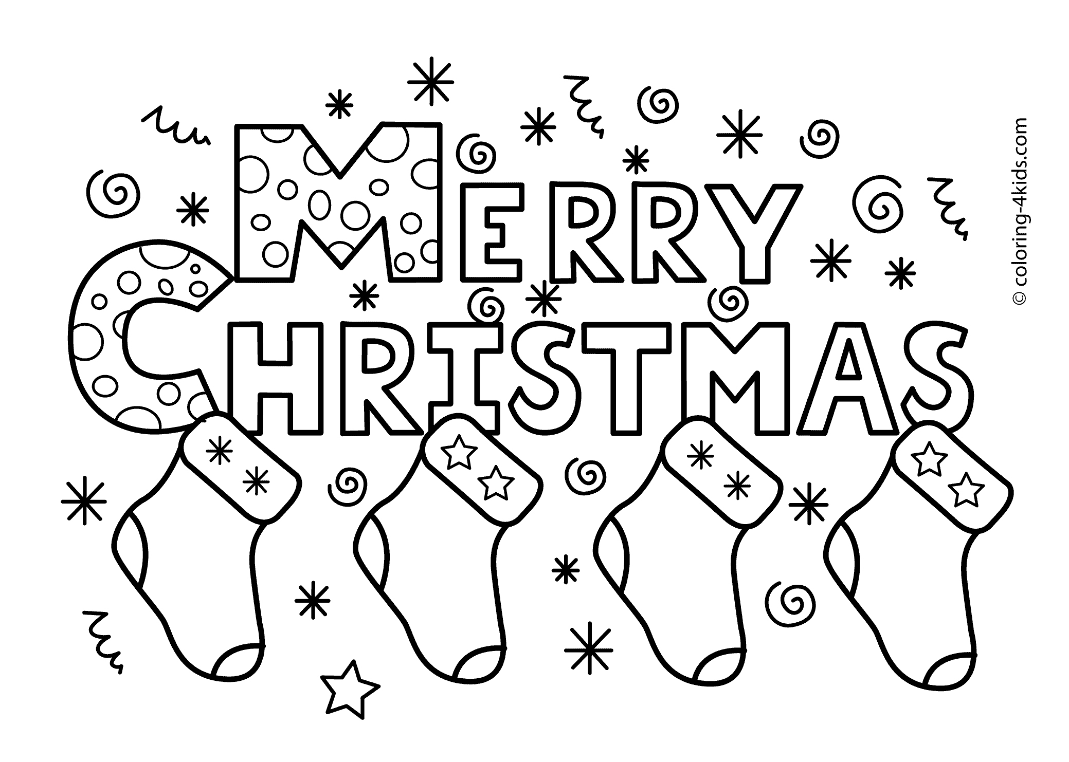 Coloring Pages For Christmas Free Printable - Saglik - Xmas Coloring Pages Free Printable