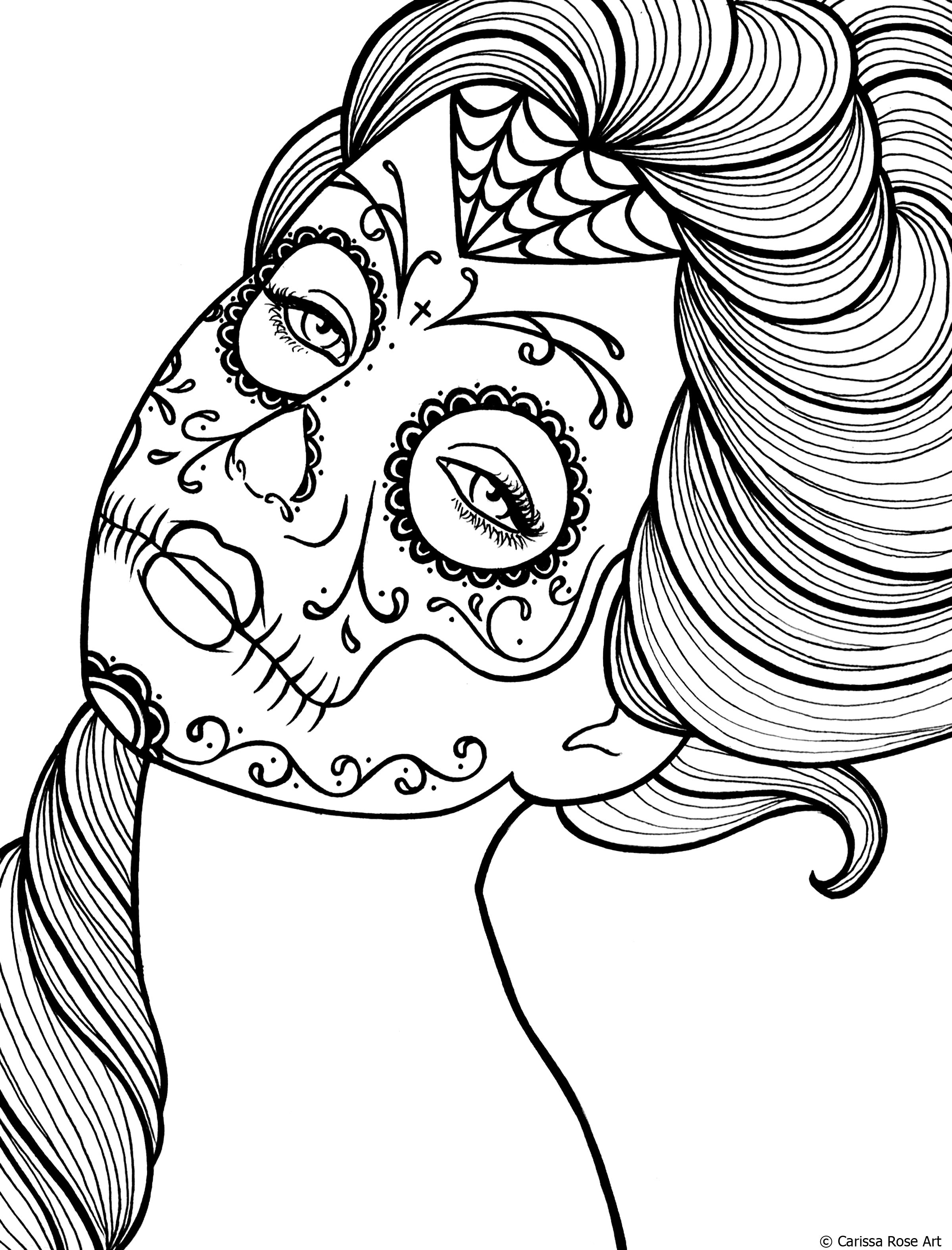 Coloring Pages : Free Printable Day Of The Coloring Book Page - Free Printable Day Of The Dead Coloring Pages