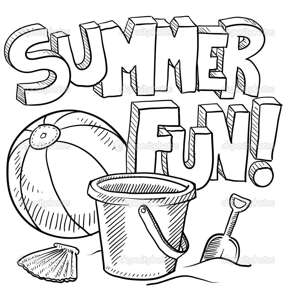 Coloring Pages : Free Summer Coloring Pages For Kids Free Summer - Summer Coloring Sheets Free Printable