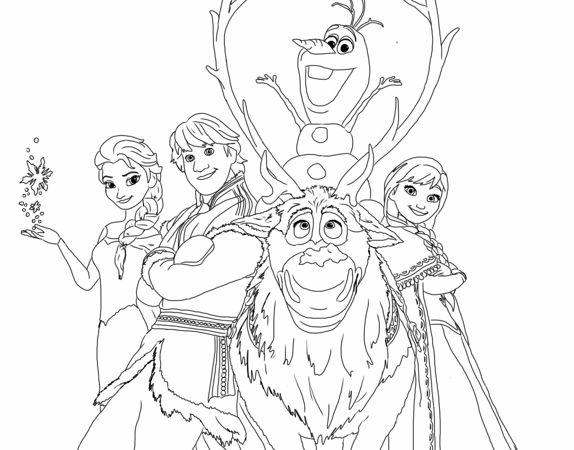 Coloring Pages : Frozen Happy Family Free Coloring Page Disney Kids - Free Printable Coloring Pages Disney Frozen