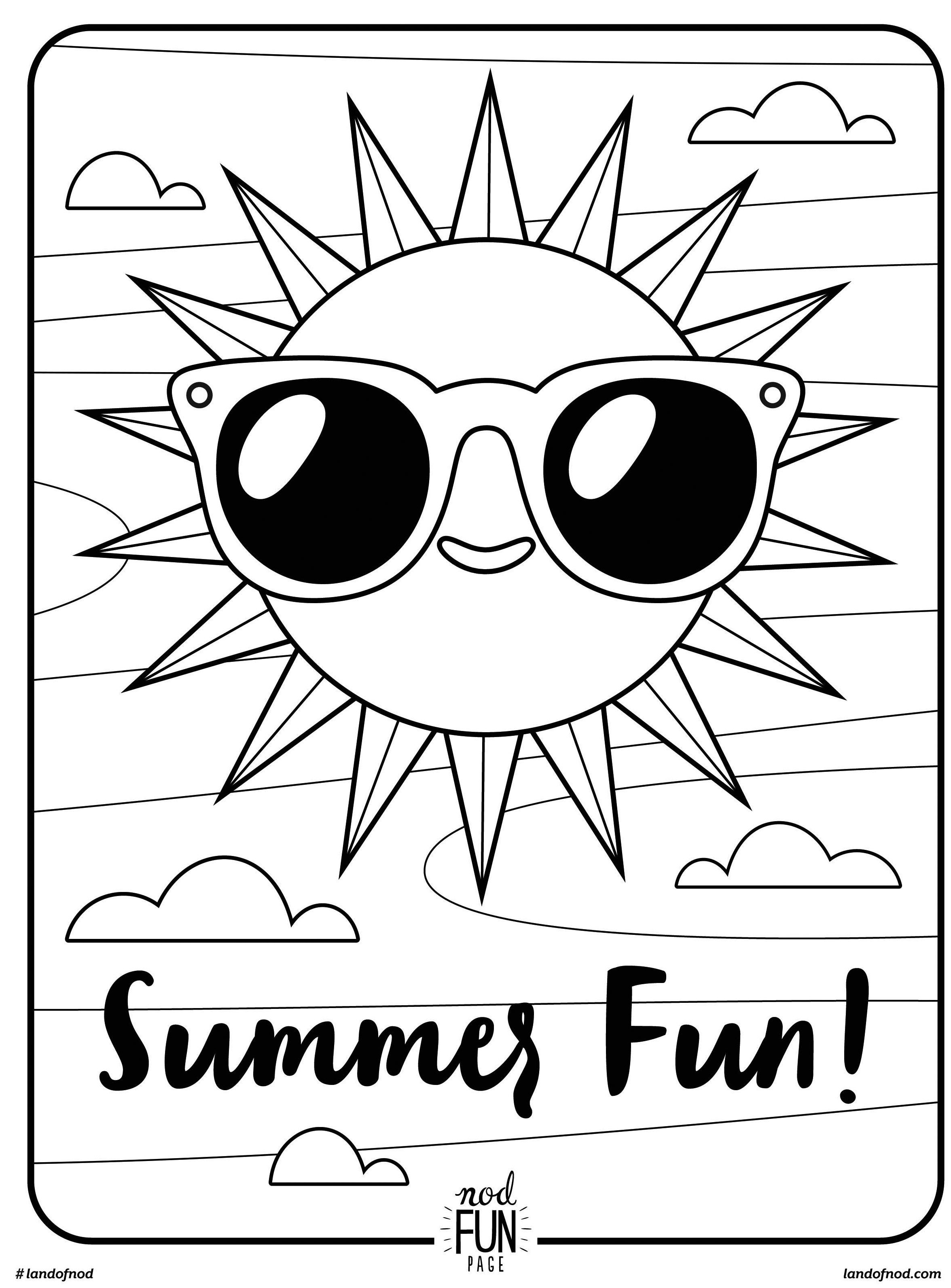 Coloring Pages : Fun Printable Coloring Pages For Kids Animals Girls - Free Printable Summer Coloring Pages For Adults