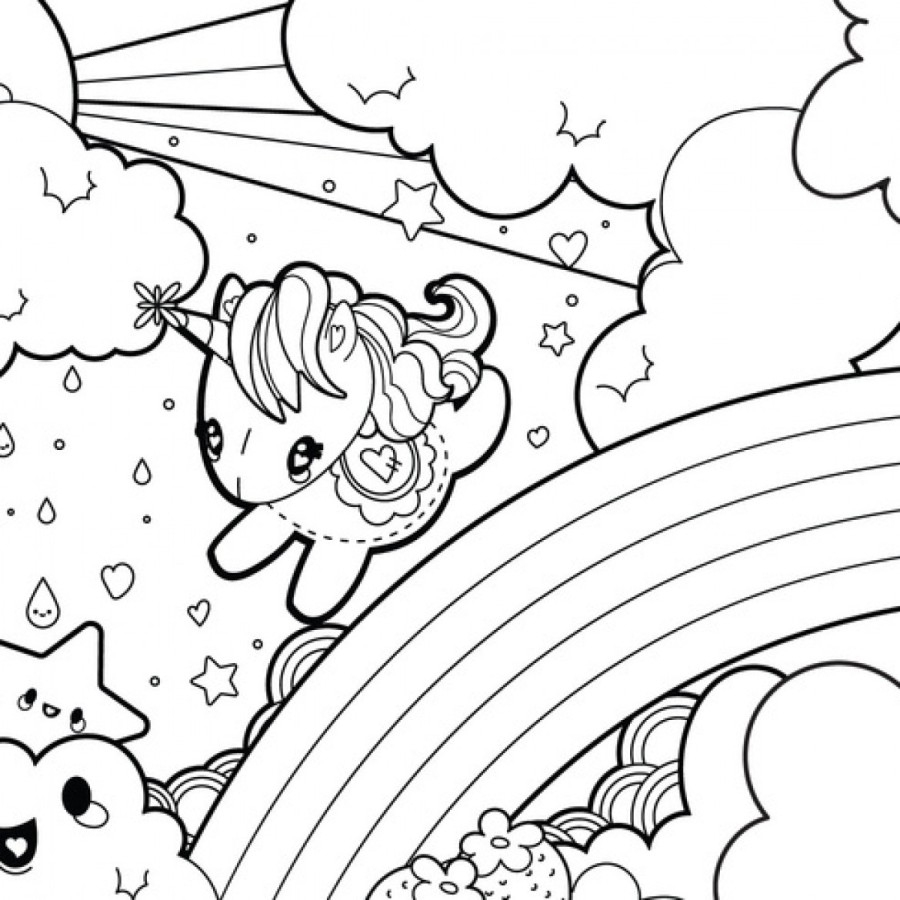 Coloring Pages : Kids Coloringn Pages Cute At Getcolorings Com Free - Free Printable Unicorn Coloring Pages