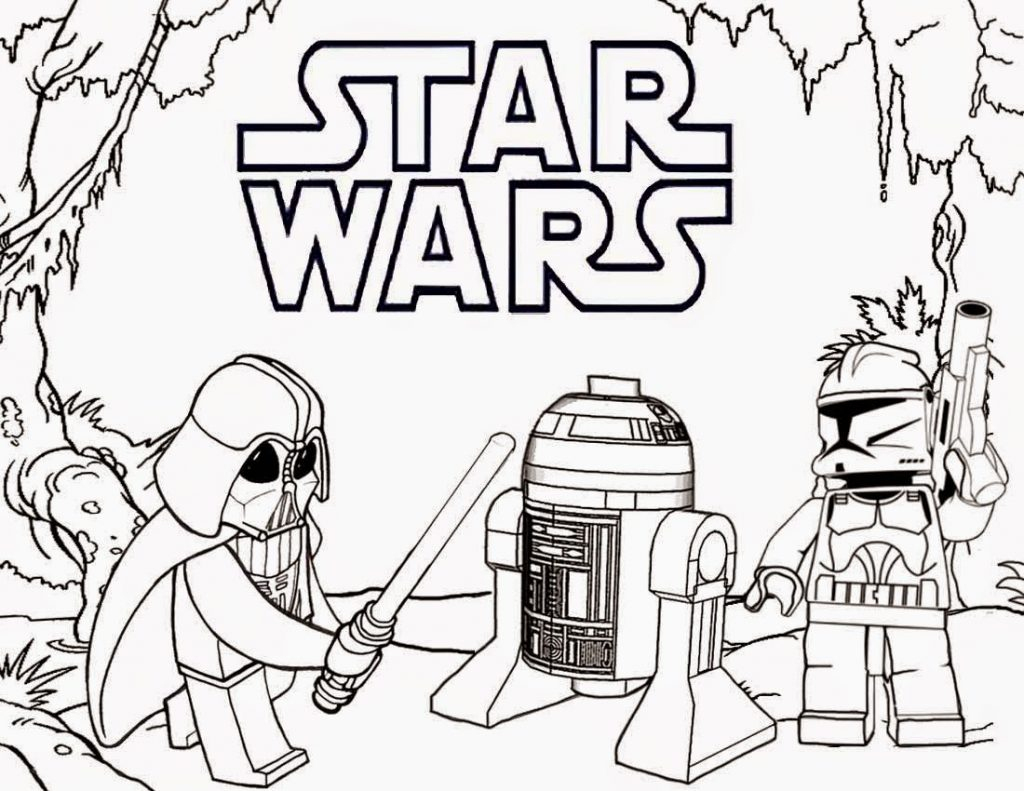 Coloring Pages ~ Lego Star Wars Coloring Pages Darth Vader And R2 - Free Printable Star Wars Coloring Pages