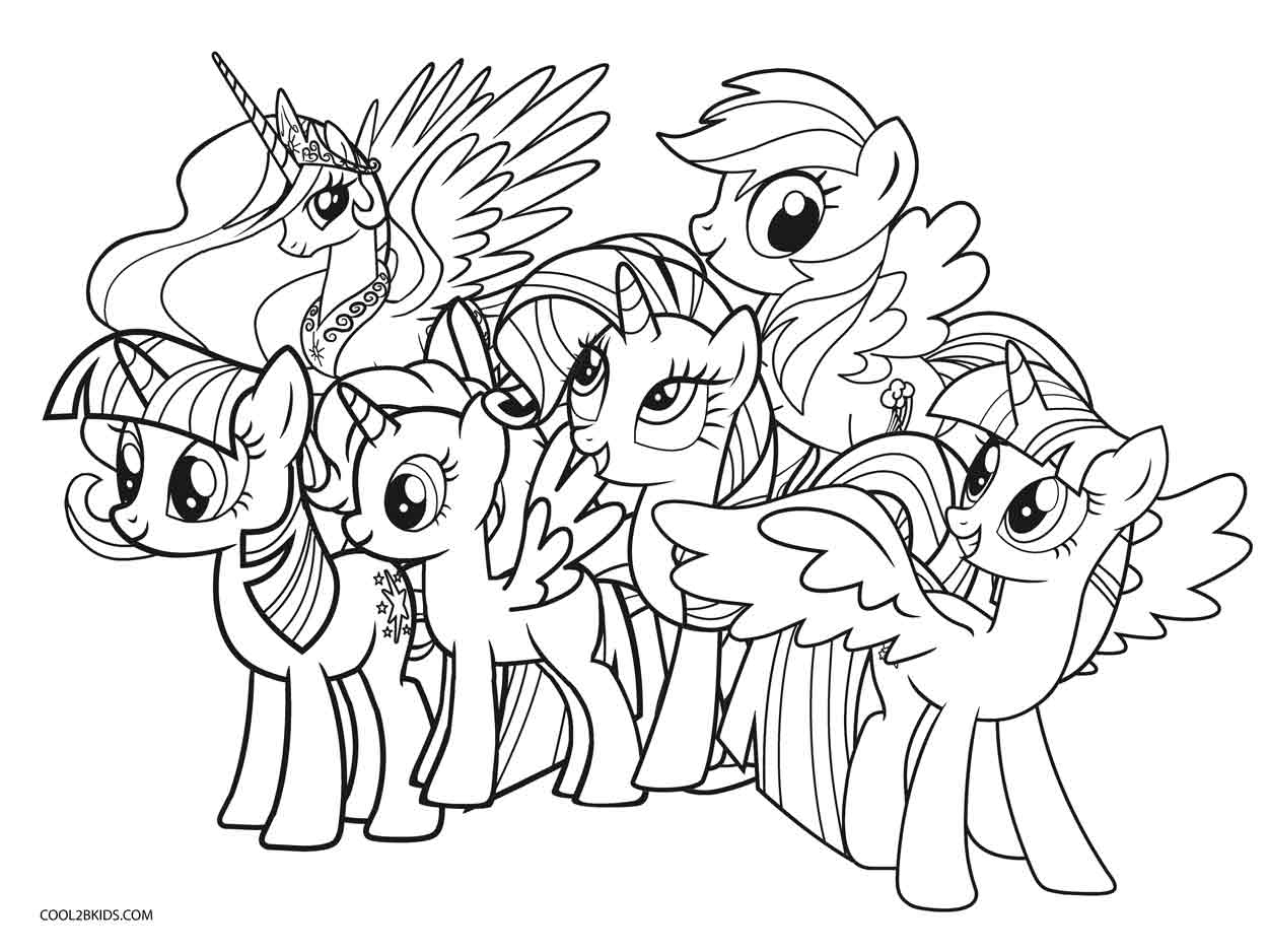 Coloring Pages : My Little Pony Coloring Pages To Print Book - Free Printable My Little Pony Coloring Pages