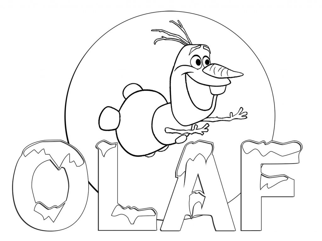 Coloring Pages : Olaf Coloring Page 1024X768 Staggering Freeble - Free Printable Frozen Coloring Pages