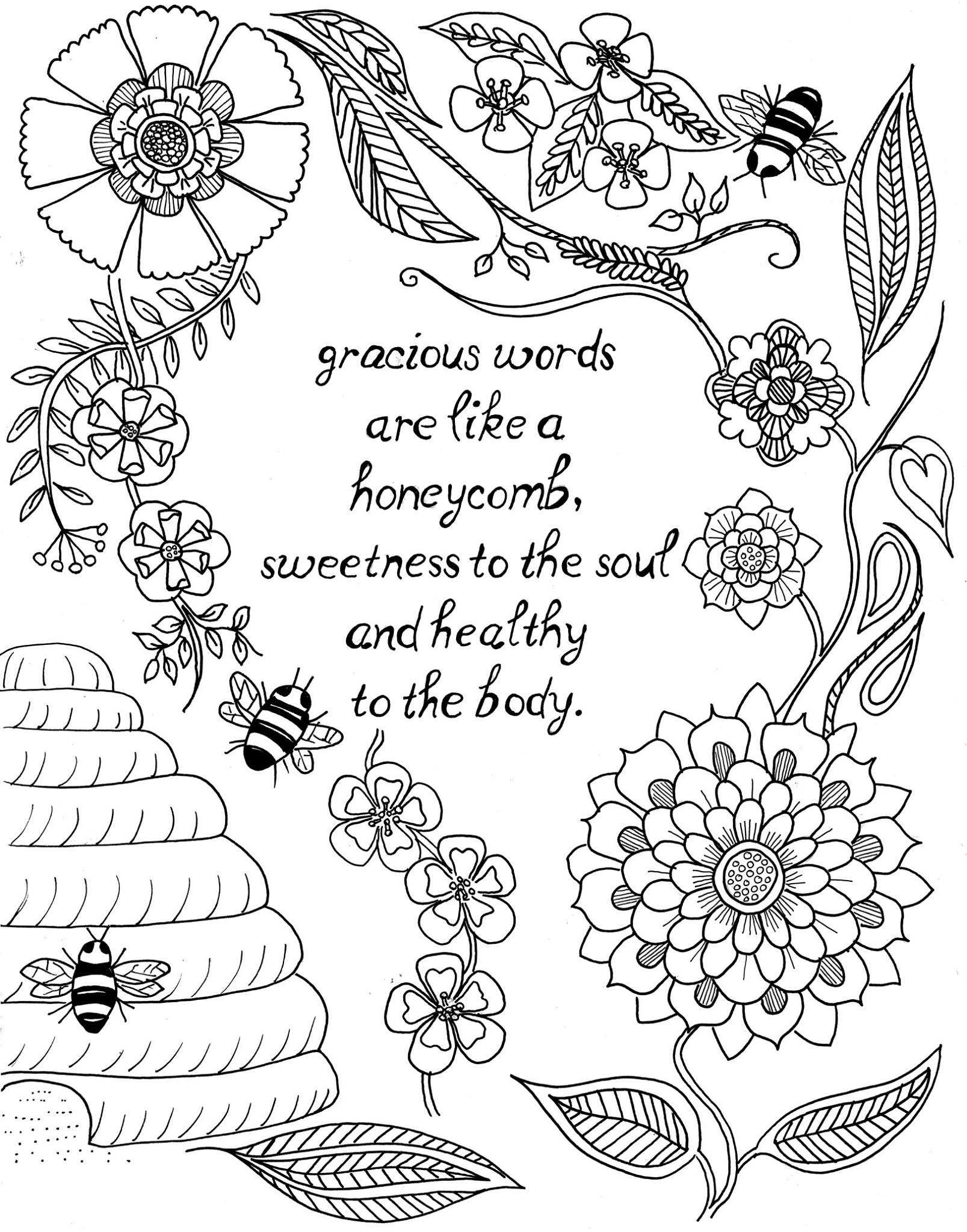 Coloring Pages ~ Positive Quotes Coloring Pages Printable - Free Printable Inspirational Coloring Pages