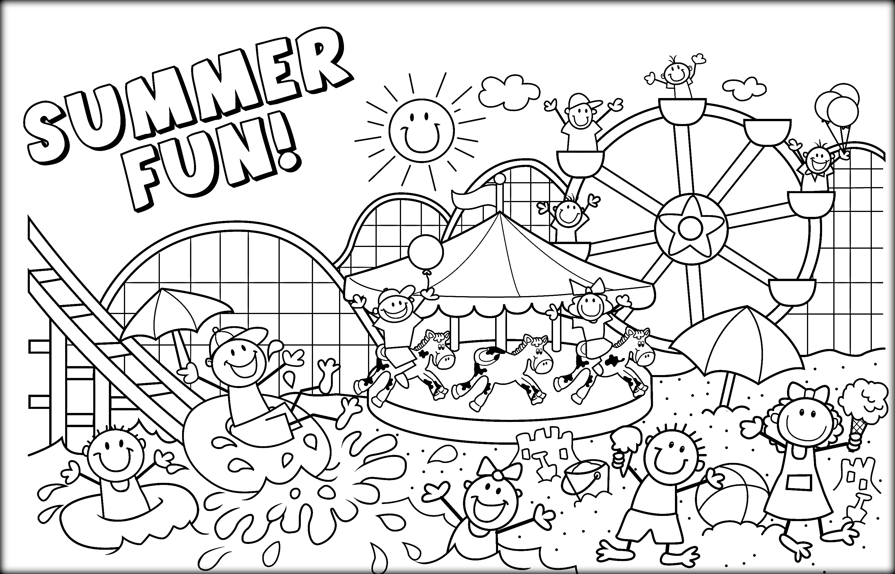 Coloring Pages : Proven Free Printable Summer Coloring Pages Ti - Summer Coloring Sheets Free Printable