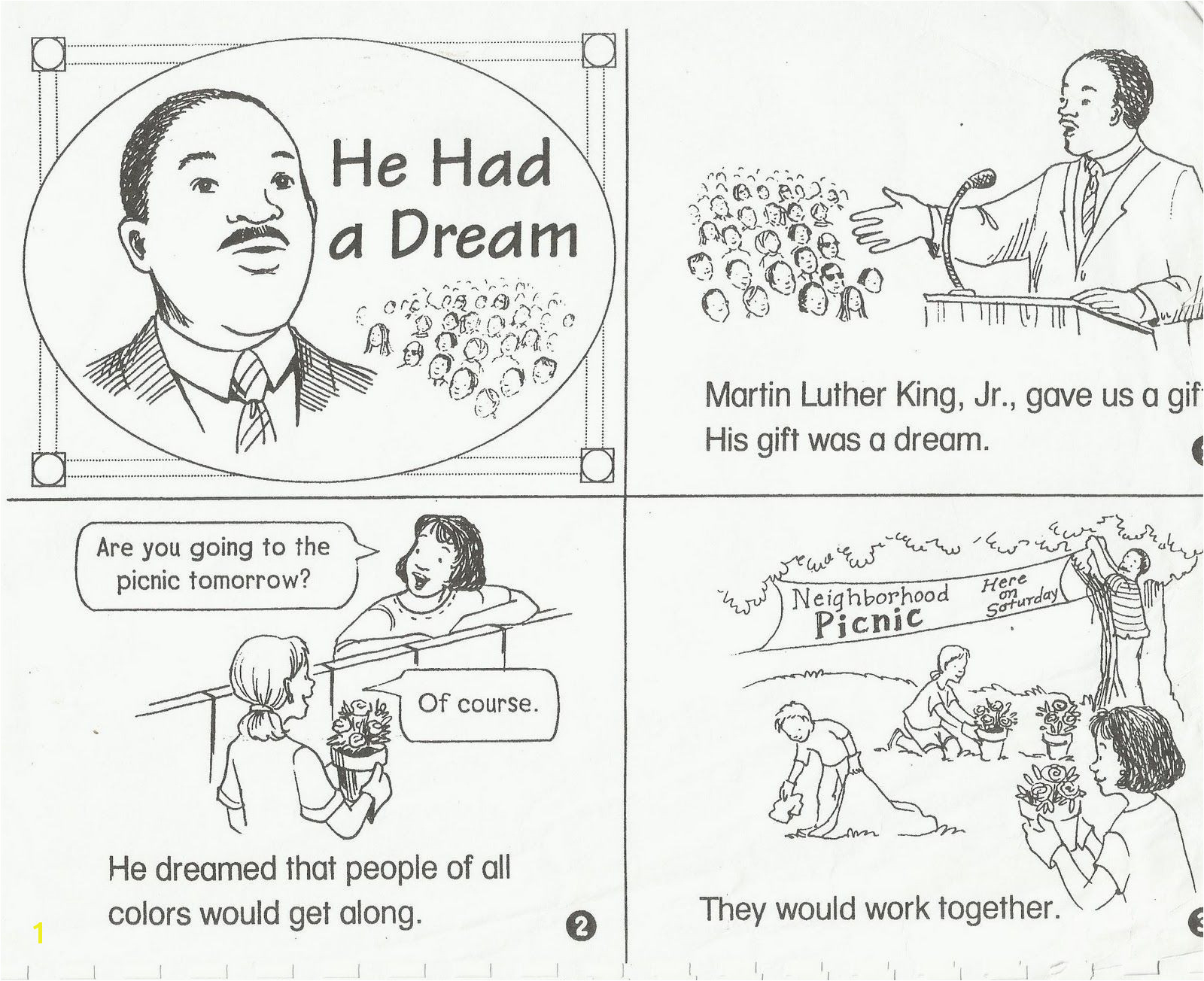 Coloring Pages : Remarkable Martin Luther Kingng Pages Free Jr For - Free Printable Martin Luther King Jr Worksheets For Kindergarten