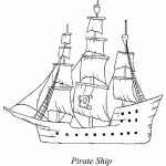 Coloring Picture Of Pirate Ship. Download Free Printable Pirate Ship   Free Printable Boat Pictures