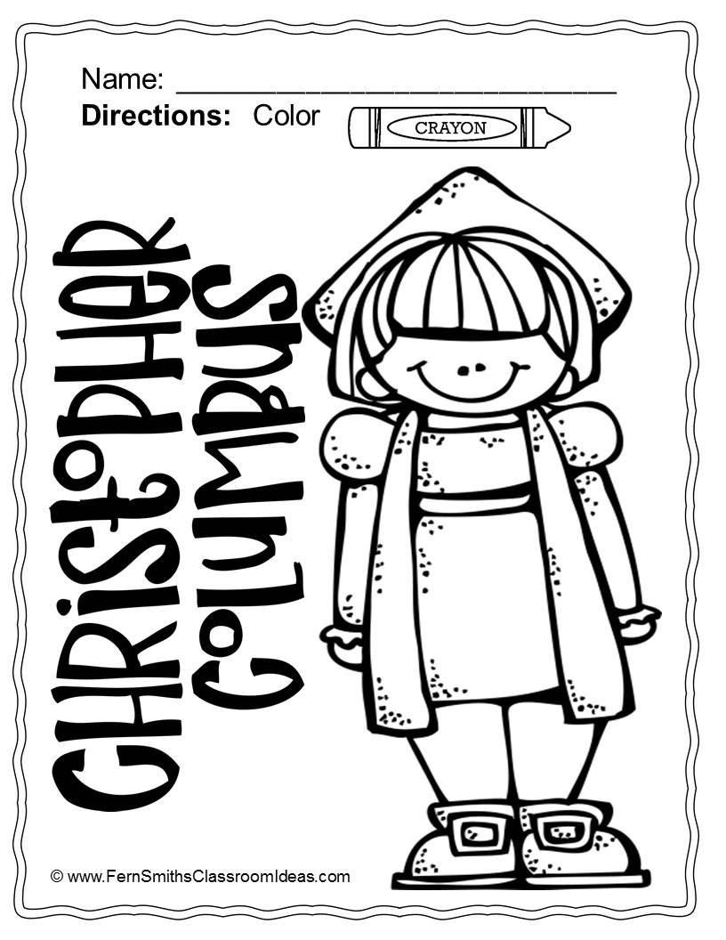Columbus Day Coloring Pages Dollar Deal - 21 Pages Of Columbus Day - Free Printable Christopher Columbus Coloring Pages