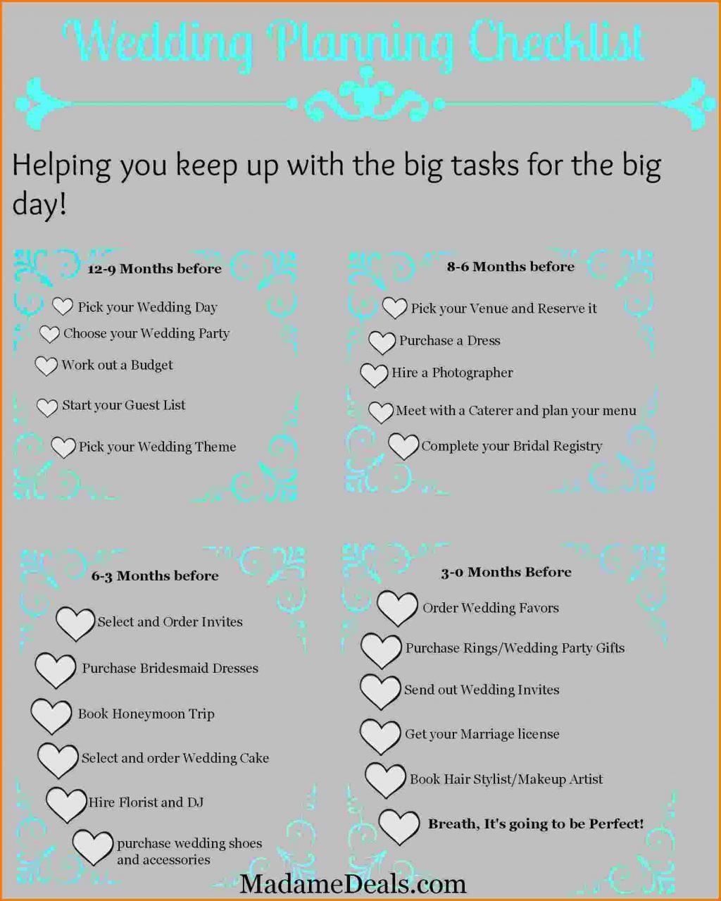 Complete Wedding Checklist Printable – Free Wedding Template - Free Printable Wedding Checklist