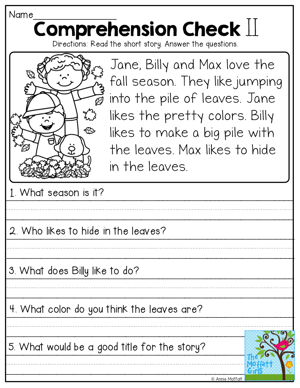 Comprehension Checks And So Many More Useful Printables! | Test Of - Free Printable Grade 1 Reading Comprehension Worksheets