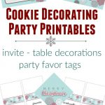 Cookie Decorating Party Printables   Invitation, Table Decorations   Free Printable Cookie Decorating Invitations