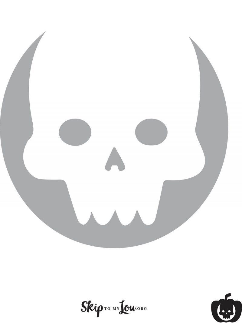 Cool Free Printable Pumpkin Carving Stencils | Halloween | Pinterest - Skull Stencils Free Printable