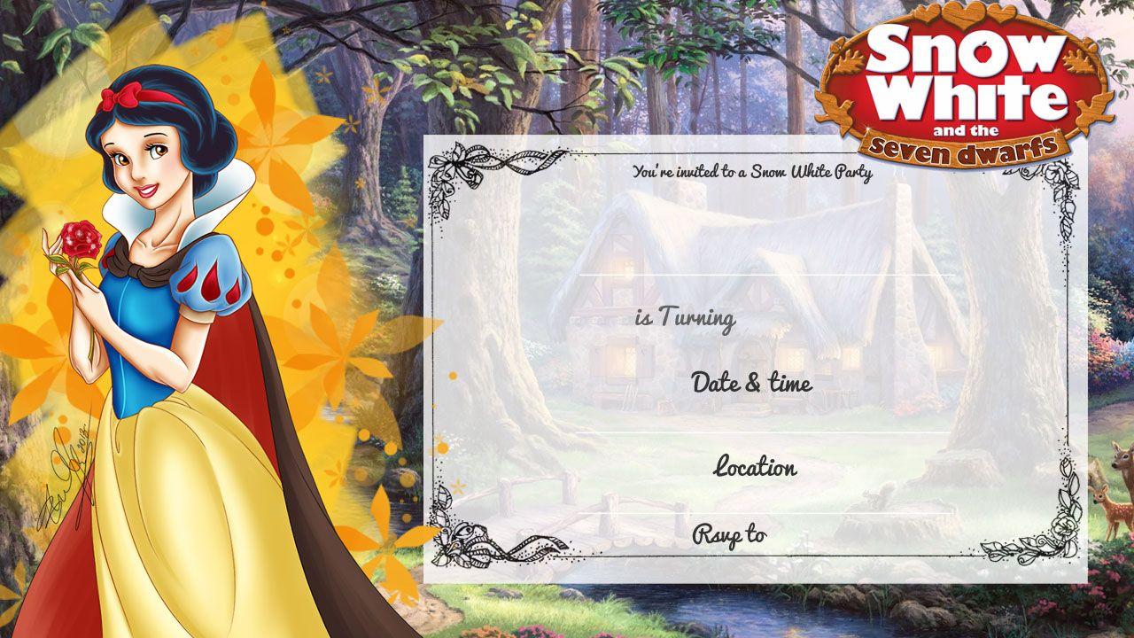 Cool Free Printable Snow White Birthday Invitation   Bagvania - Snow White Invitations Free Printable