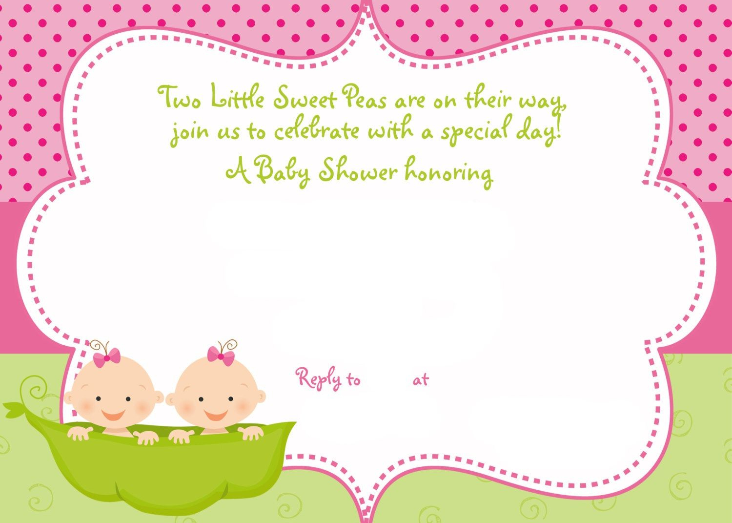 Cool Free Printable Twins Baby Shower Invitation Ideas | Free Baby - Free Printable Twin Baby Shower Invitations