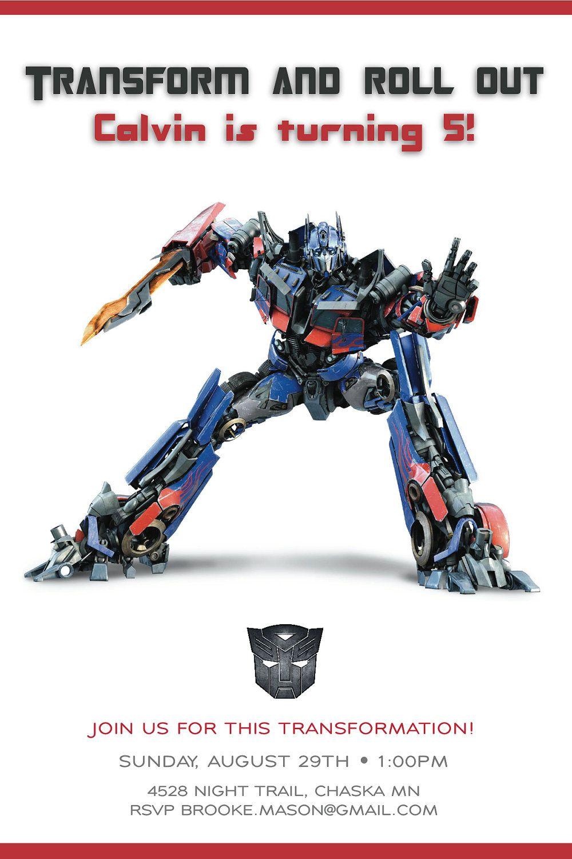 Cool Transformer Birthday Invitations | Bagvania Invitation - Transformers Party Invitations Free Printable